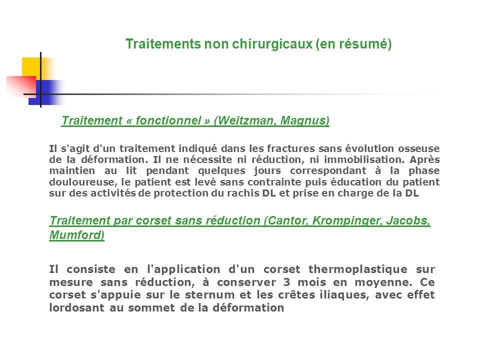Traitements non chirurgicaux (en résumé)