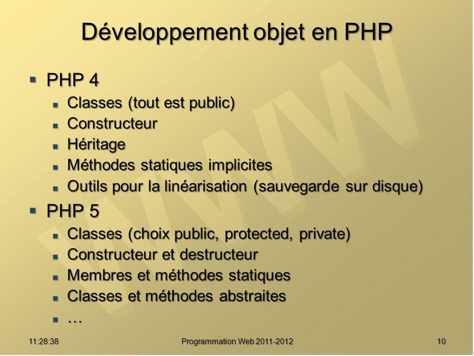 Développement objet en PHP