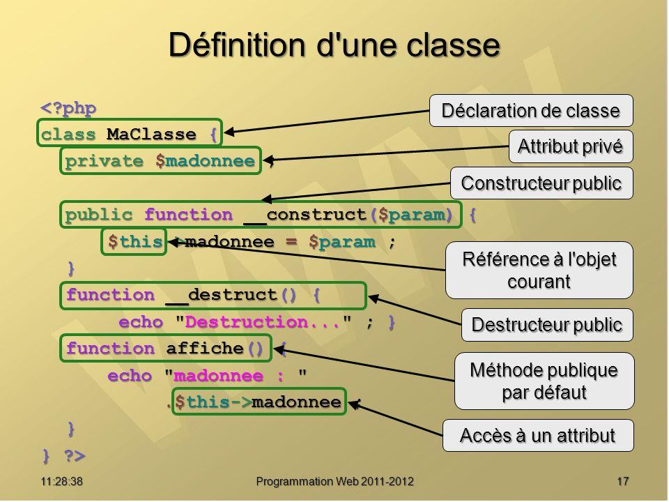 Définition d une classe