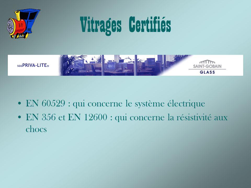 Vitrages Certifiés EN 60529 : qui concerne le système électrique