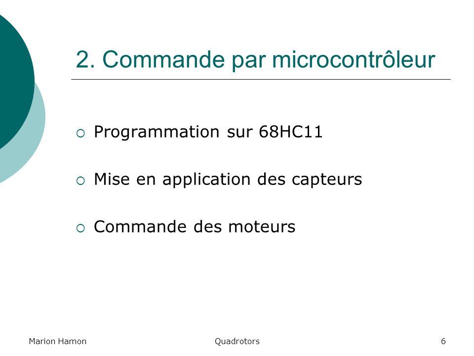 2. Commande par microcontrôleur