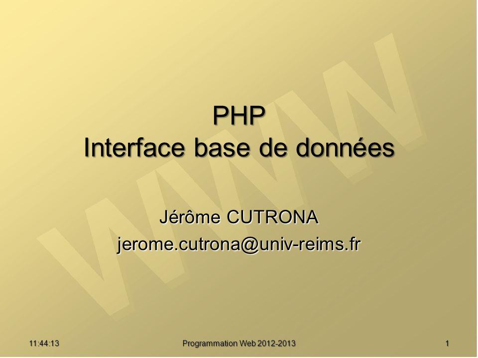 PHP Interface base de données