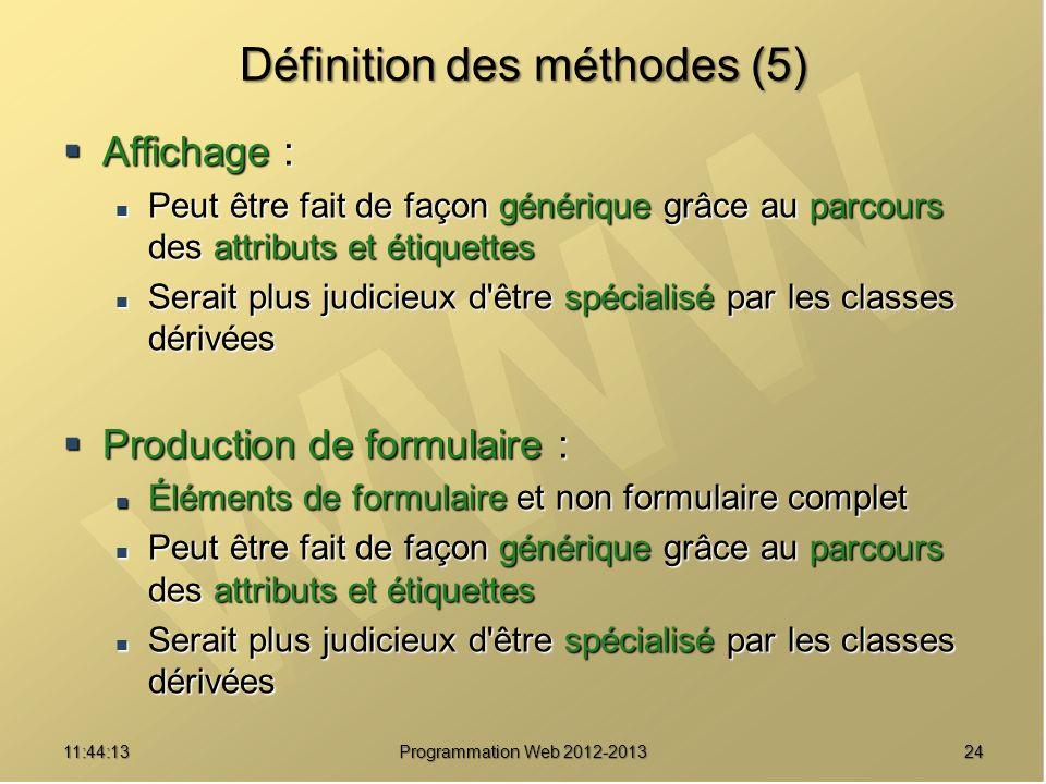 Définition des méthodes (5)