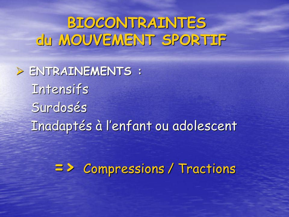 BIOCONTRAINTES du MOUVEMENT SPORTIF