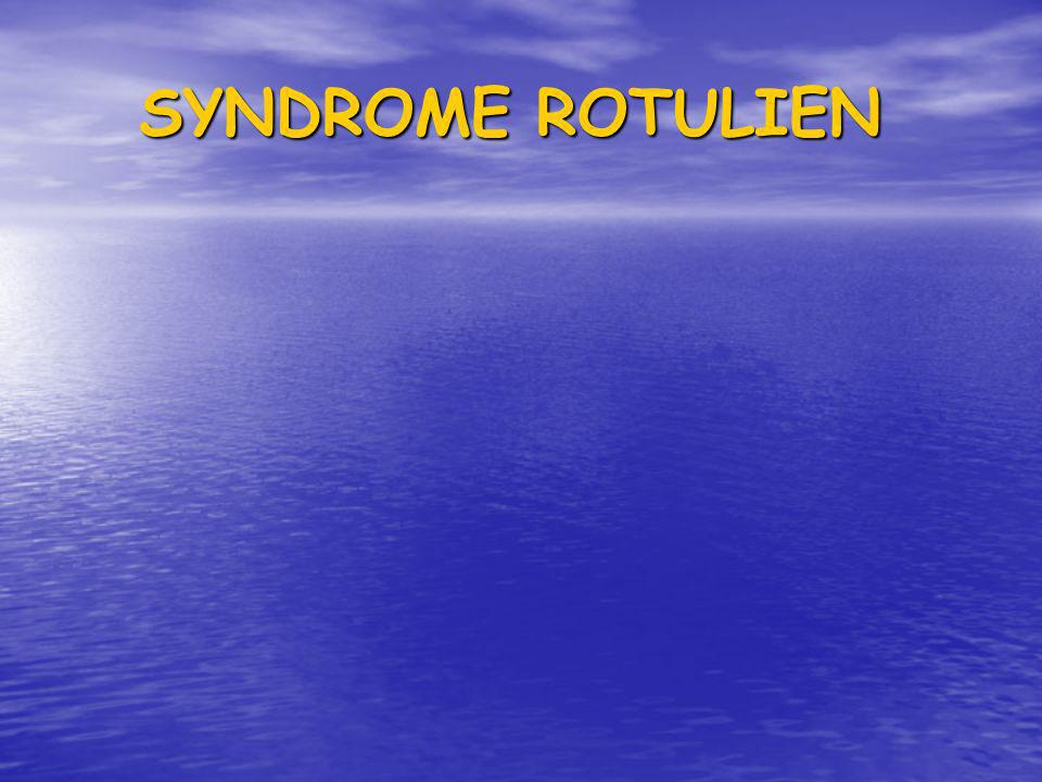 SYNDROME ROTULIEN