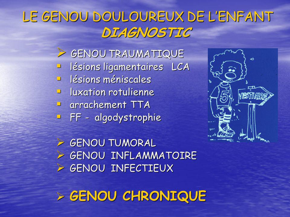 LE GENOU DOULOUREUX DE L'ENFANT DIAGNOSTIC