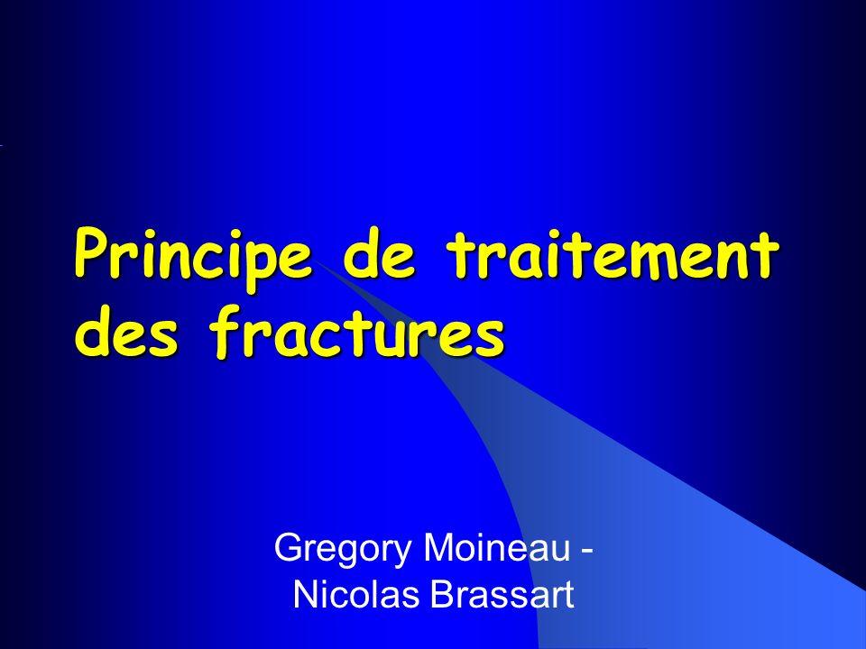 Principe de traitement des fractures