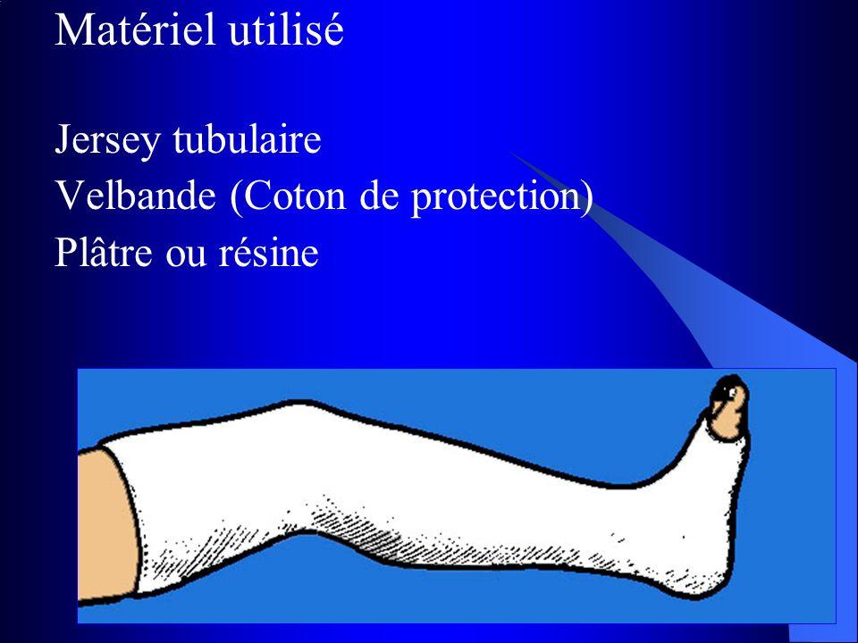 Matériel utilisé Jersey tubulaire Velbande (Coton de protection)