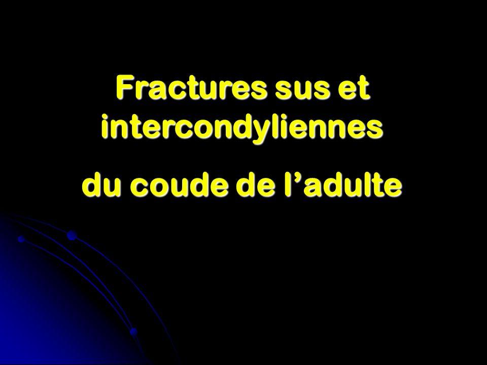 Fractures sus et intercondyliennes