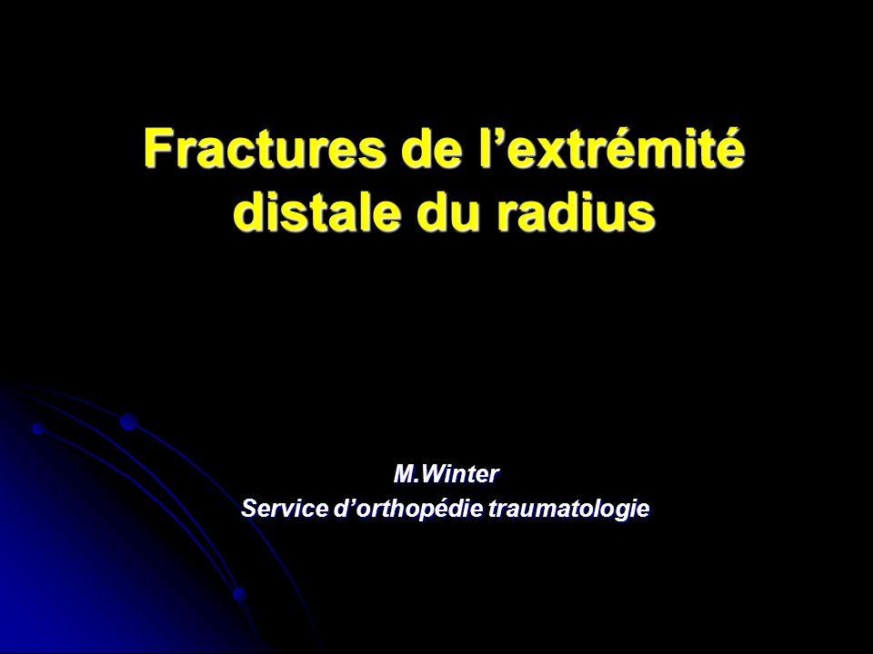 Fractures de l'extrémité distale du radius