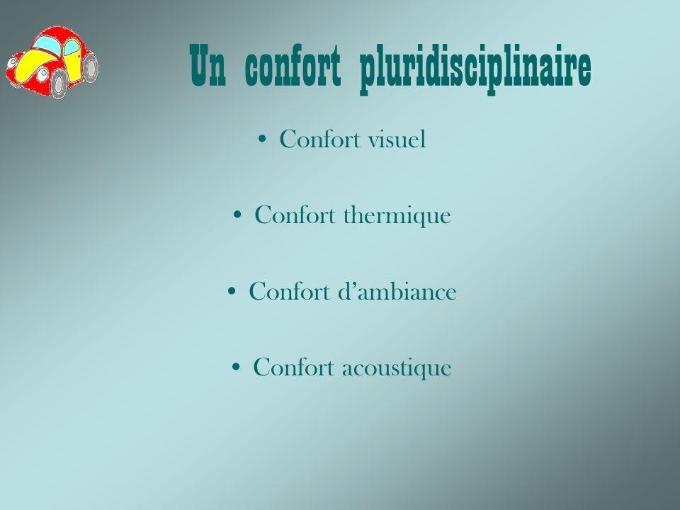 Un confort pluridisciplinaire