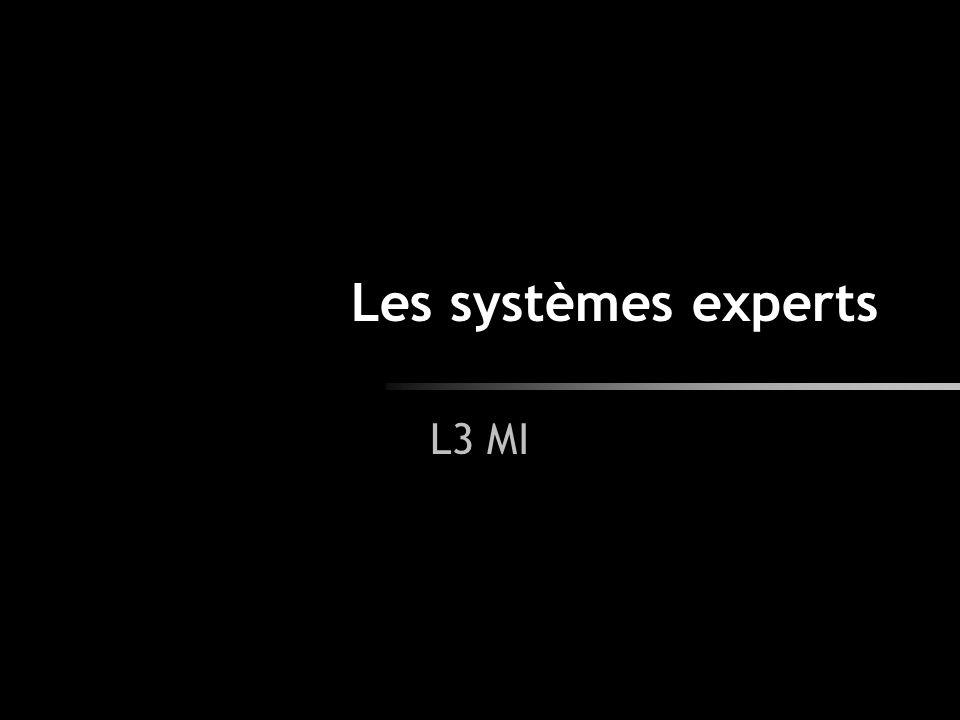 Les systèmes experts L3 MI
