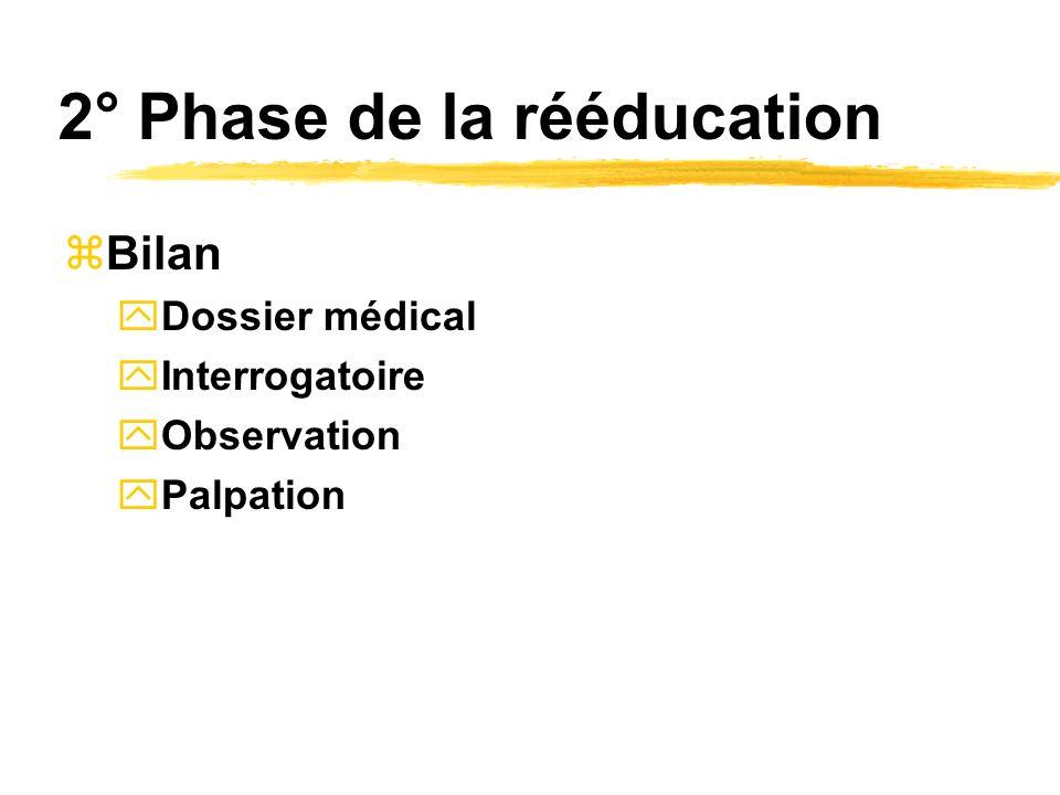 2° Phase de la rééducation