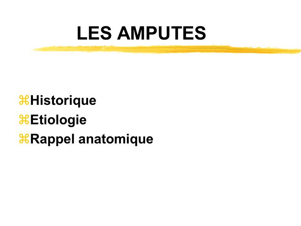 LES AMPUTES Historique Etiologie Rappel anatomique