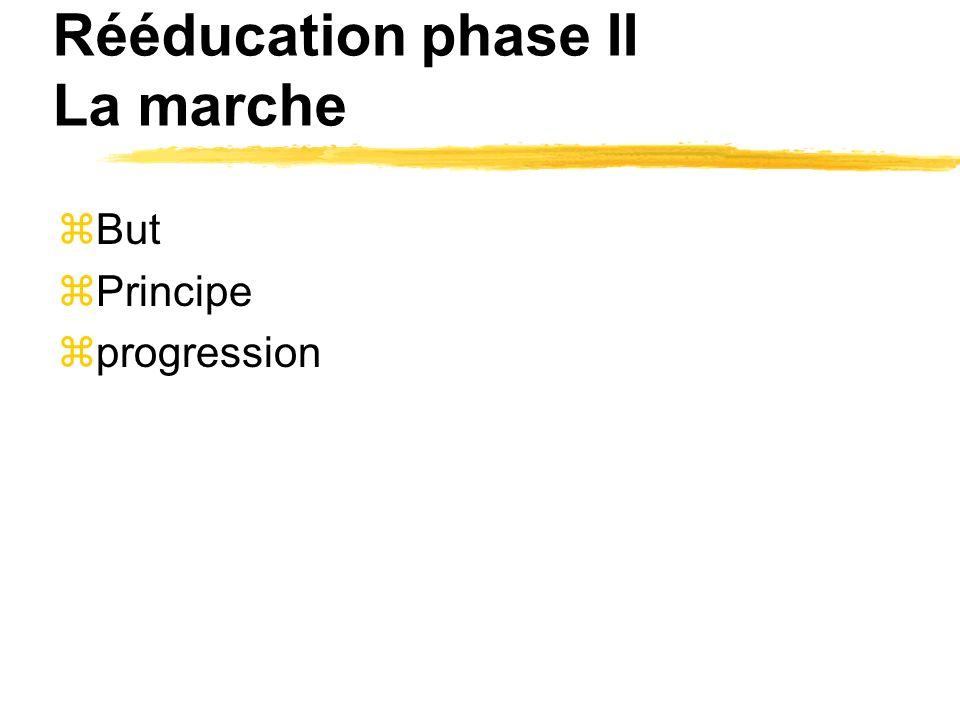 Rééducation phase II La marche