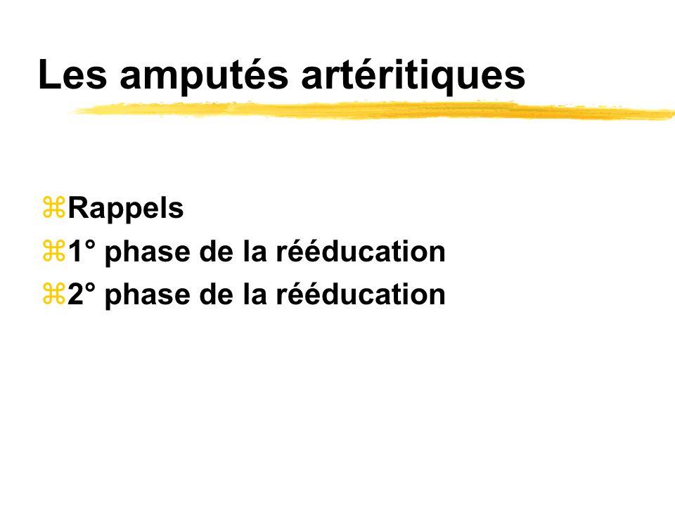 Les amputés artéritiques
