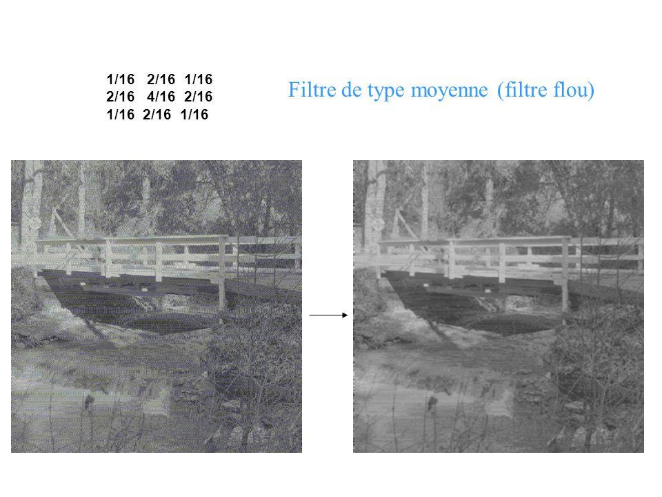 Filtre de type moyenne (filtre flou)