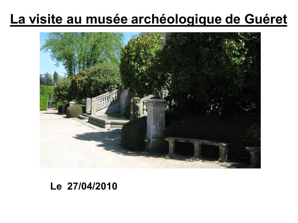 La visite au musée archéologique de Guéret