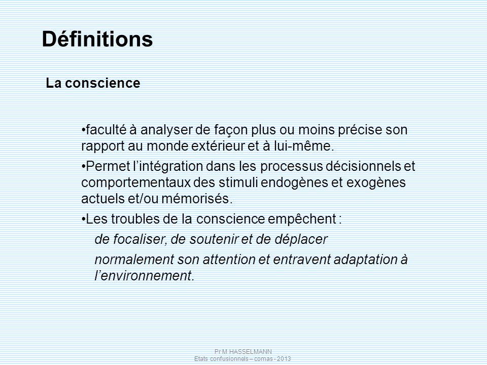Définitions La conscience