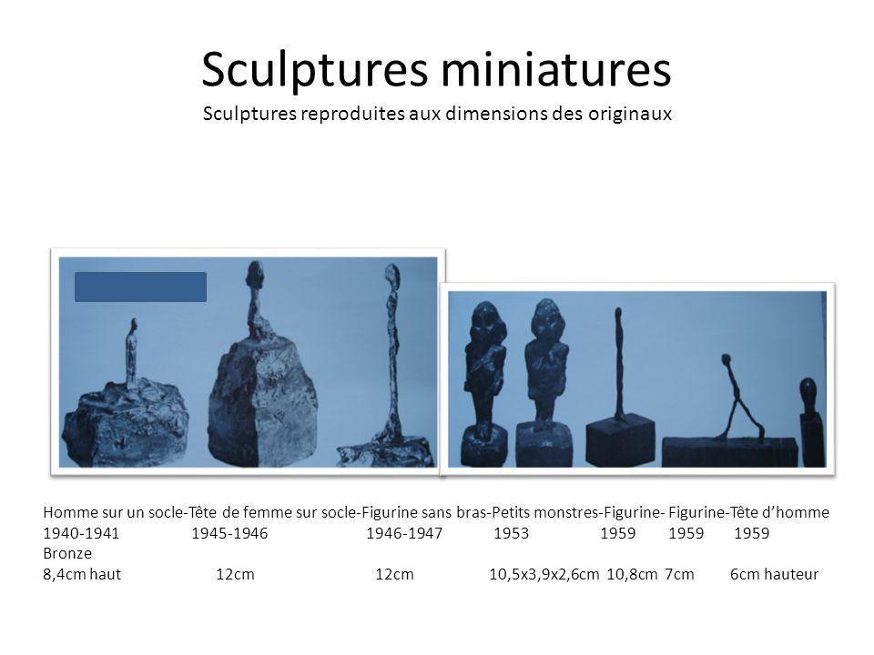 Sculptures miniatures Sculptures reproduites aux dimensions des originaux