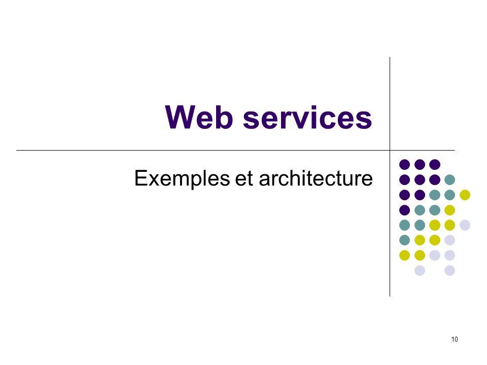 Exemples et architecture