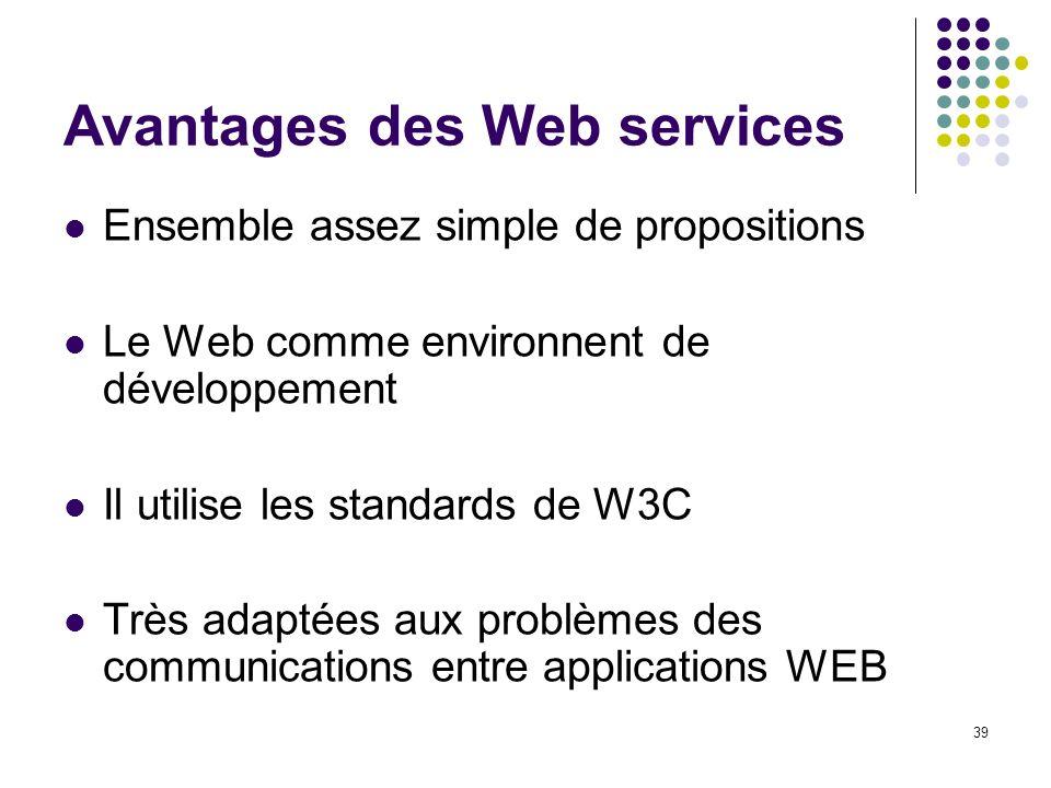 Avantages des Web services