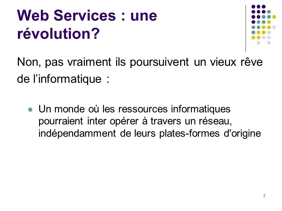 Web Services : une révolution