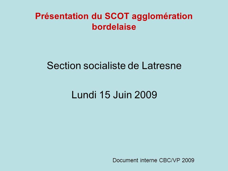 Présentation du SCOT agglomération bordelaise