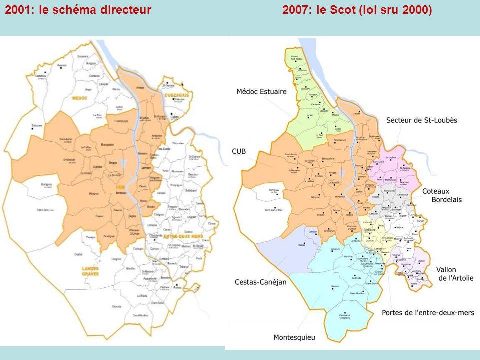 2007: le Scot (loi sru 2000) 2001: le schéma directeur