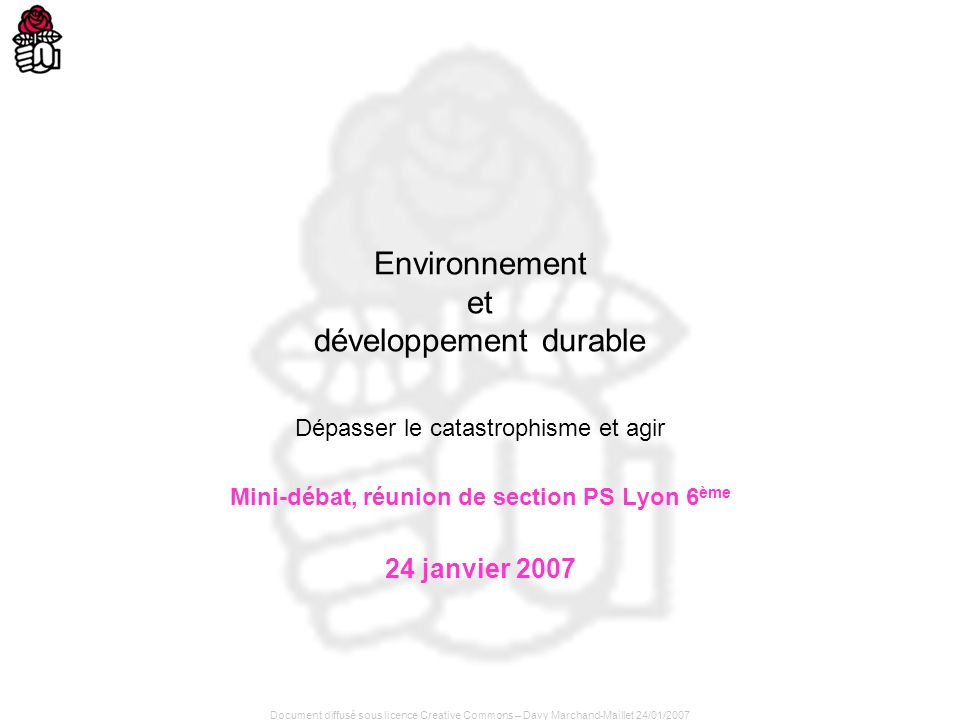 Environnement et développement durable