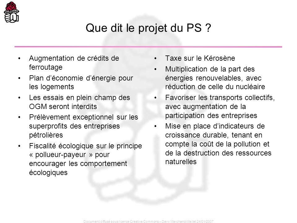 Que dit le projet du PS Augmentation de crédits de ferroutage