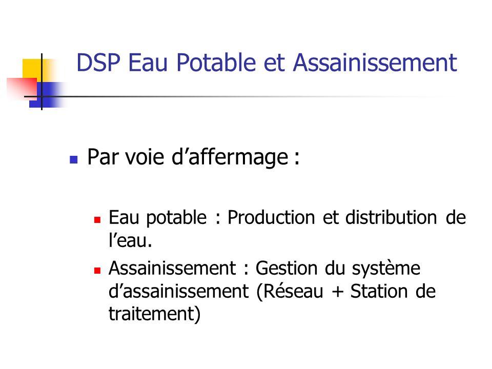 DSP Eau Potable et Assainissement