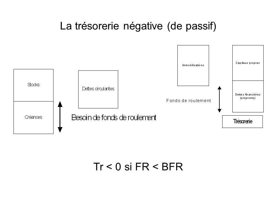 La trésorerie négative (de passif)