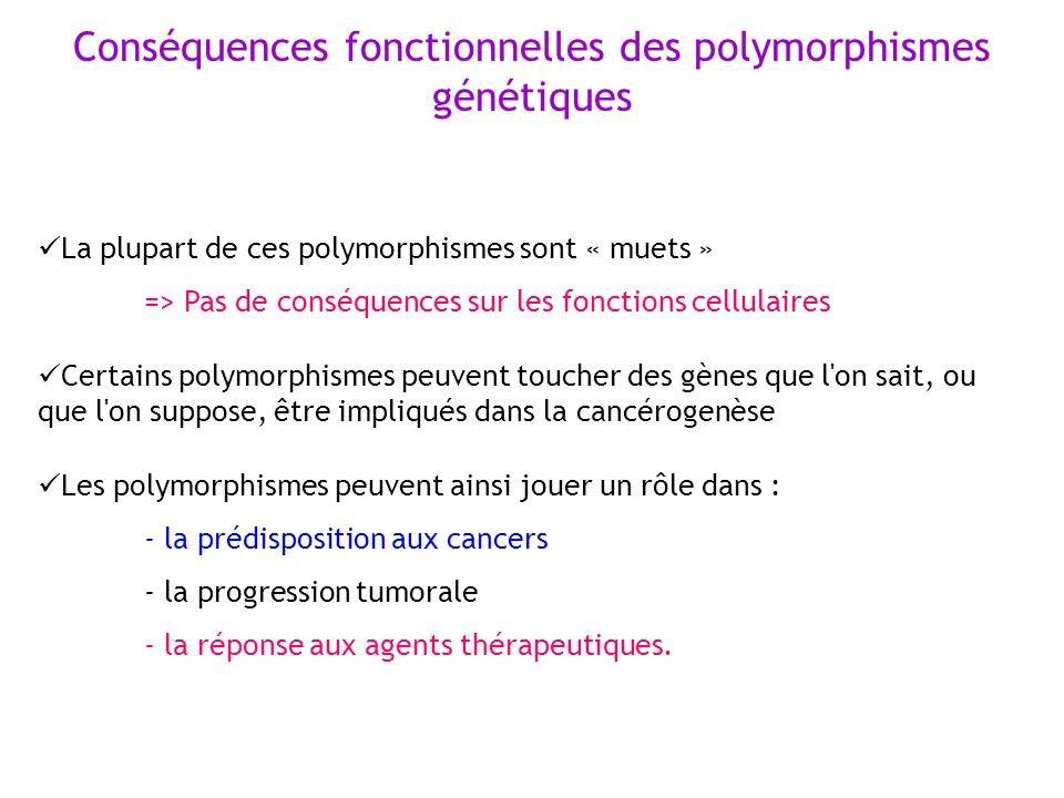 Conséquences fonctionnelles des polymorphismes génétiques