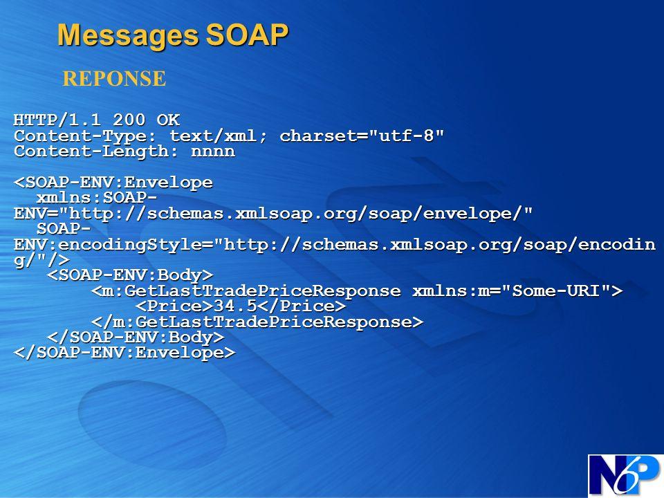 Messages SOAPREPONSE.