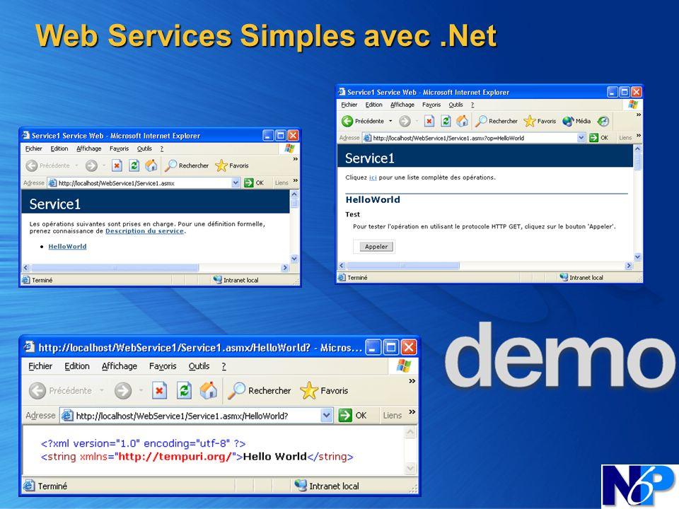 Web Services Simples avec .Net