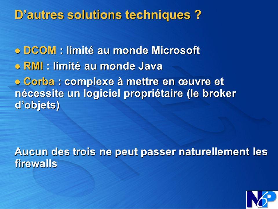 D'autres solutions techniques