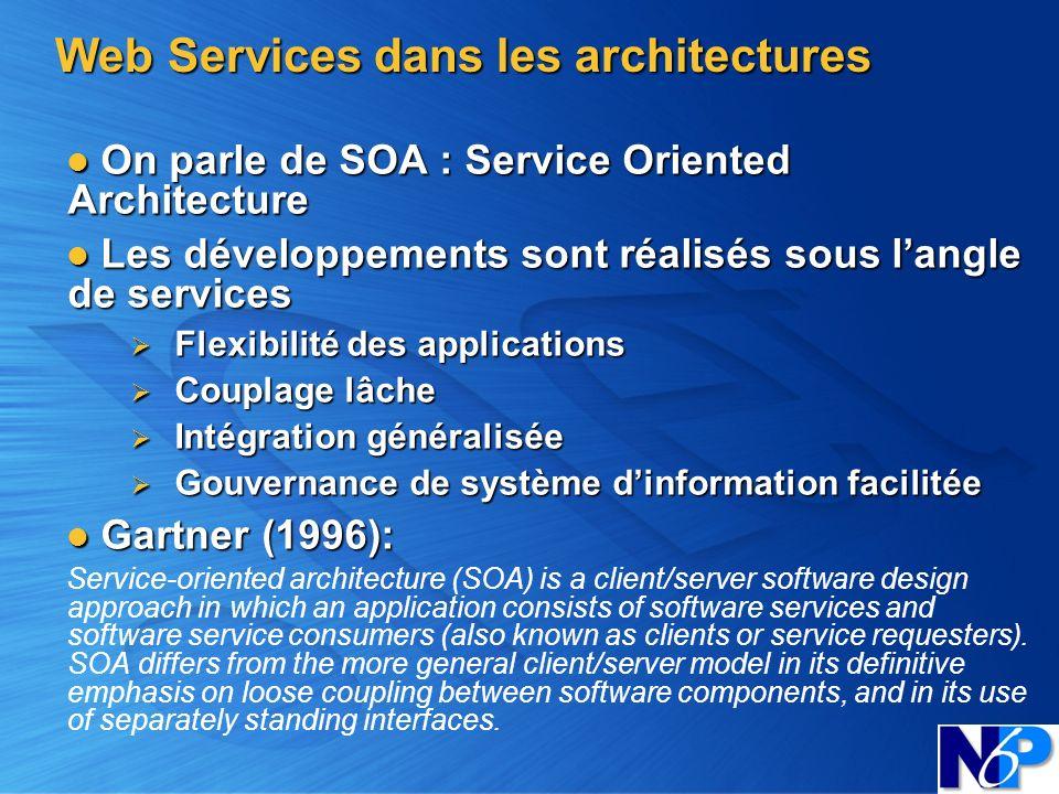 Web Services dans les architectures