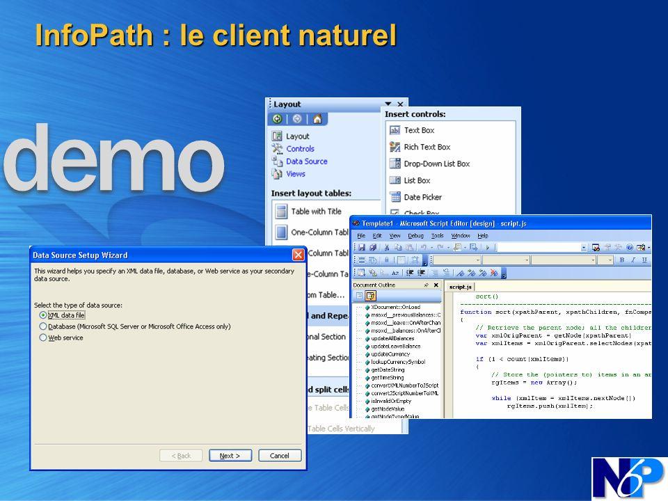 InfoPath : le client naturel
