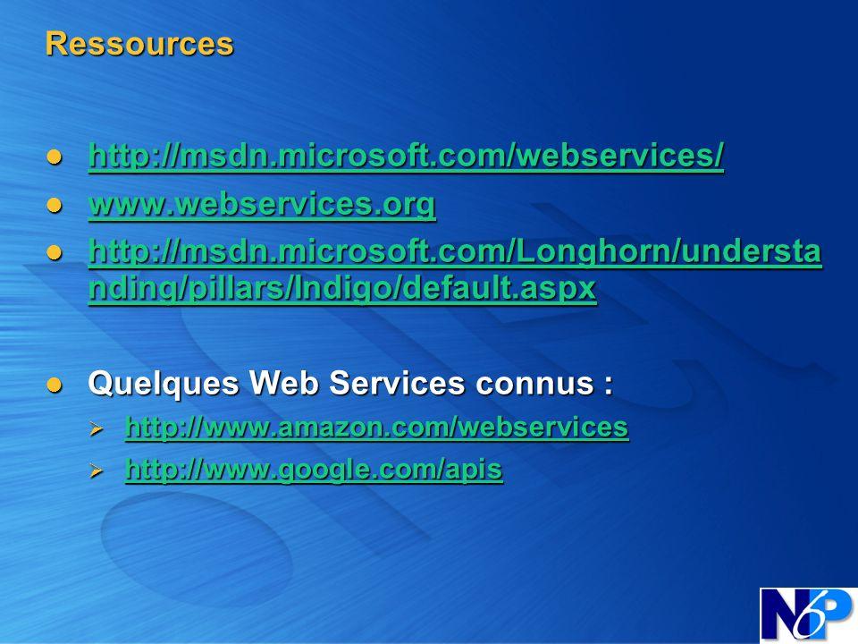 Quelques Web Services connus :