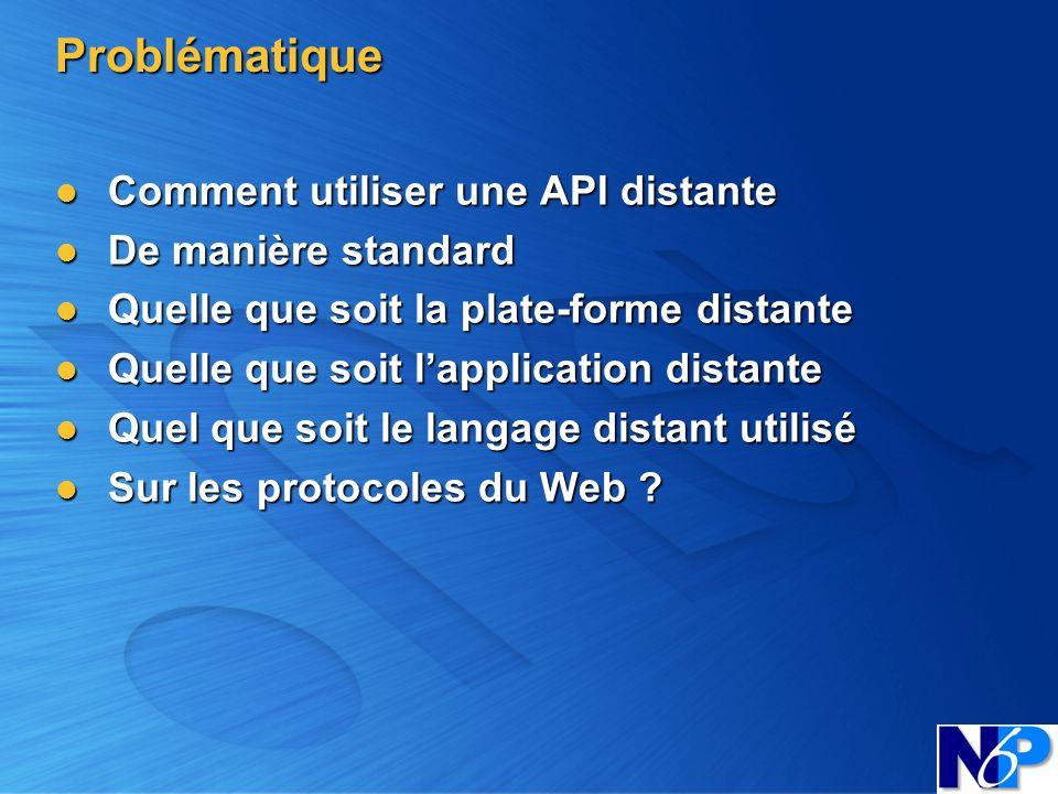 Problématique Comment utiliser une API distante De manière standard