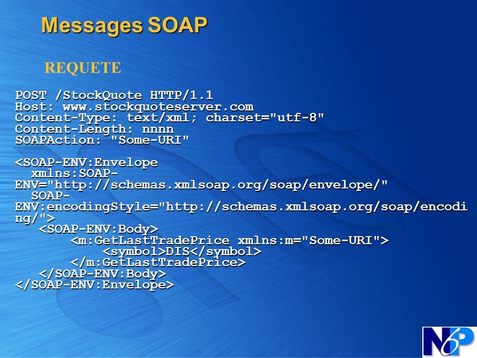 Messages SOAPREQUETE.