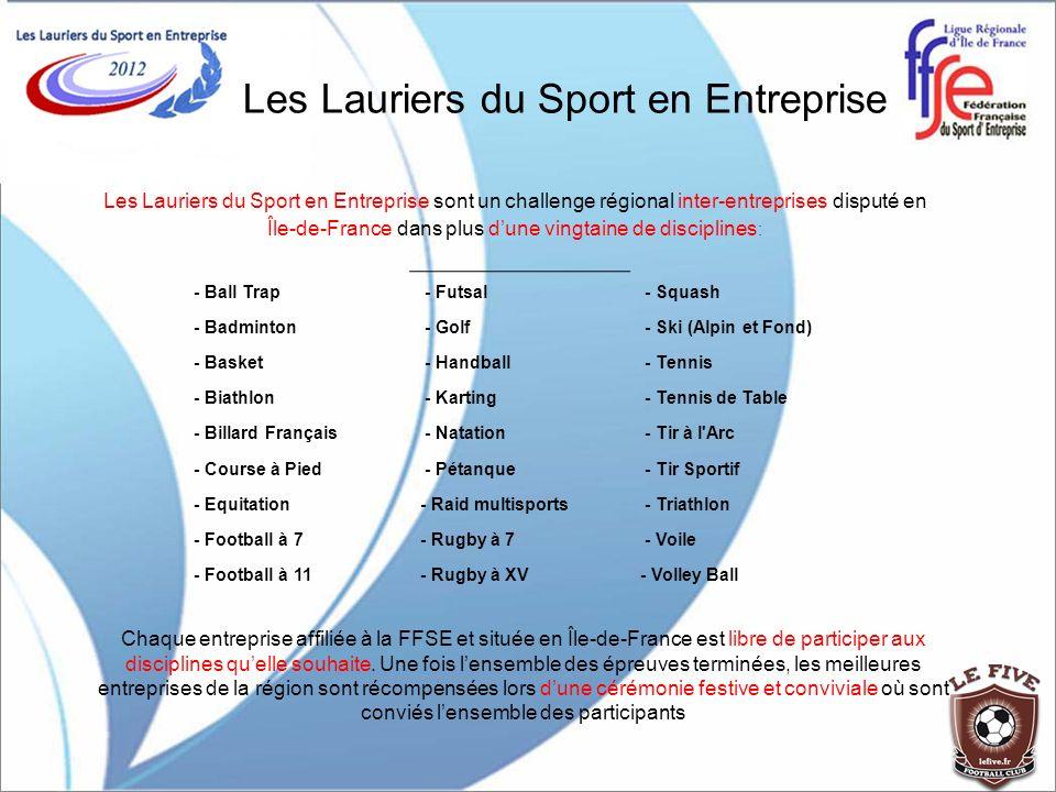 Les Lauriers du Sport en Entreprise