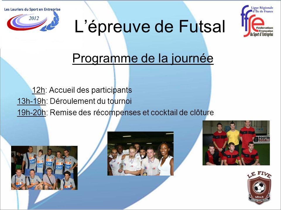 L'épreuve de Futsal Programme de la journée