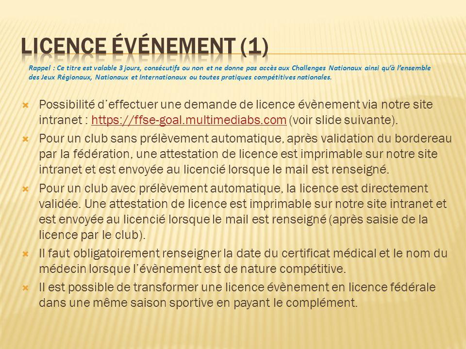 Licence événement (1)