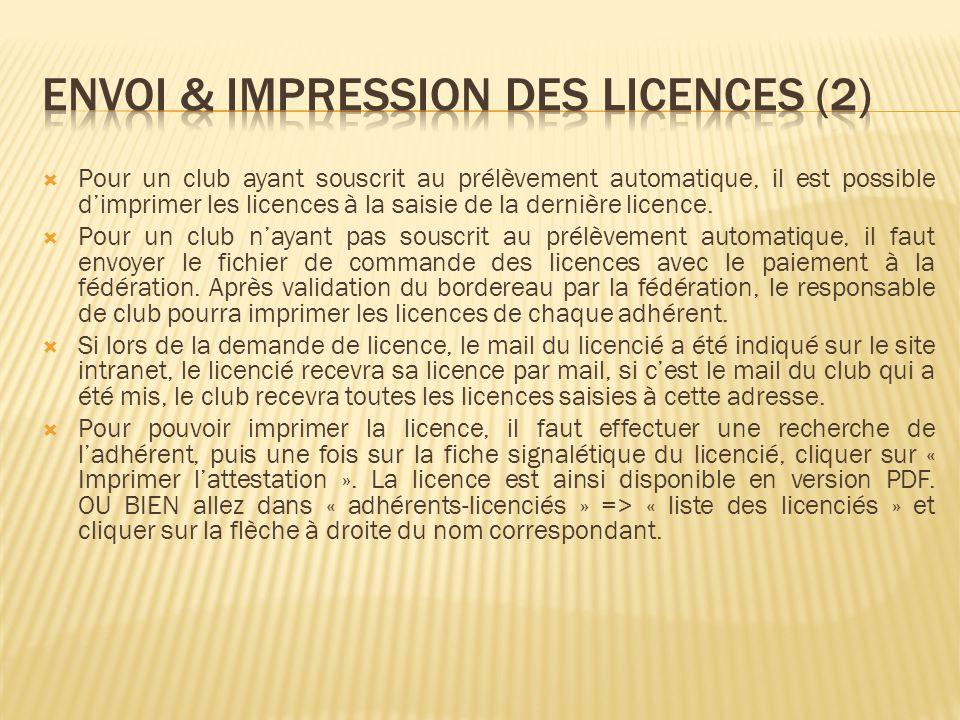 ENVOI & Impression des licences (2)