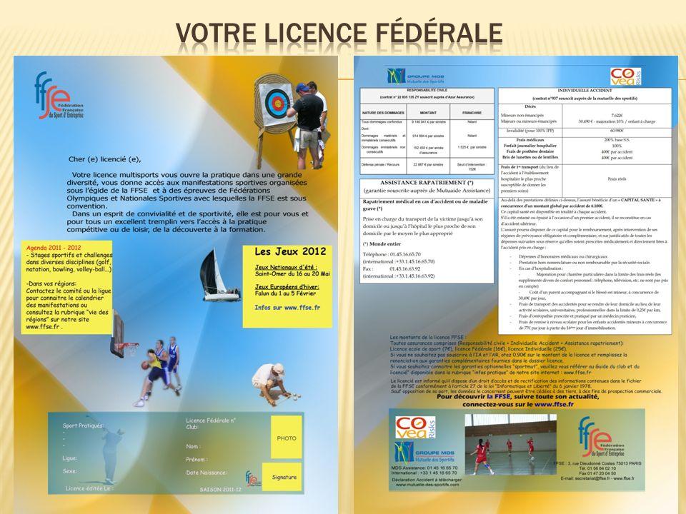 Votre licence fédérale