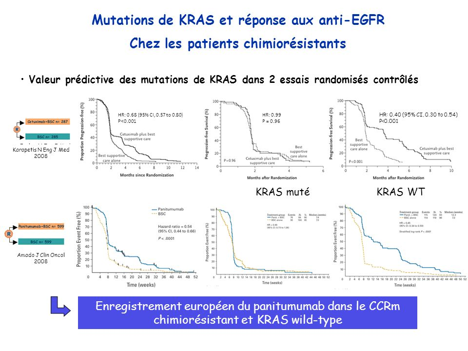 Mutations de KRAS et réponse aux anti-EGFR