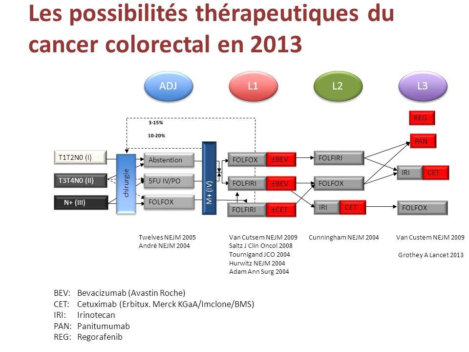 Les possibilités thérapeutiques du cancer colorectal en 2013