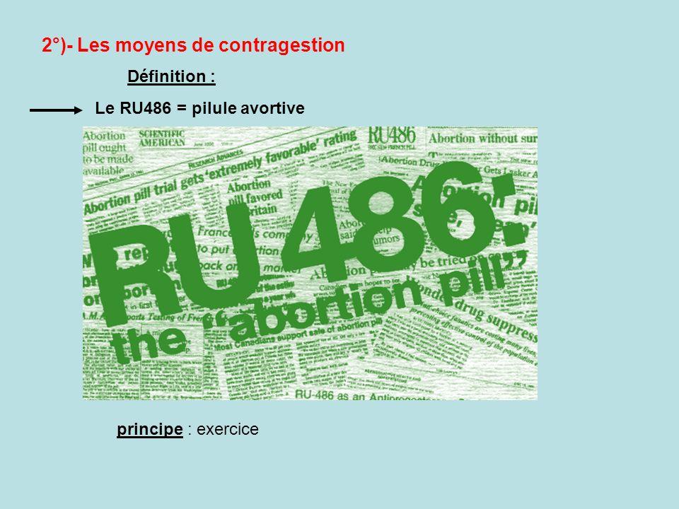 2°)- Les moyens de contragestion